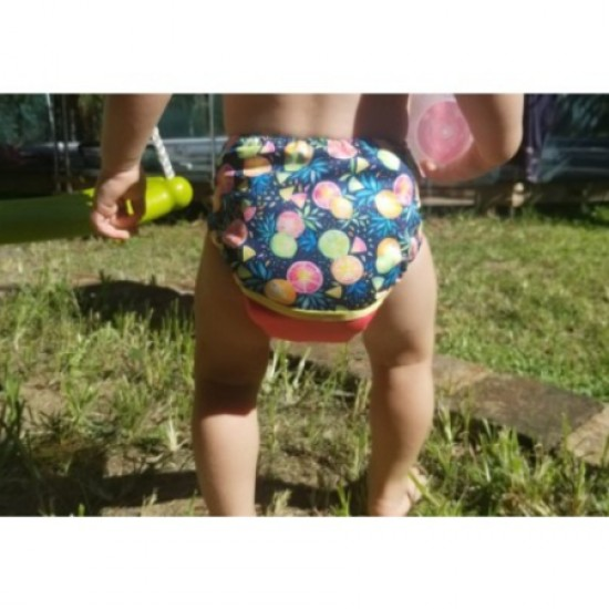 Couche lavable à poche Lya Agrumes (7-35 lbs)