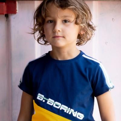 T-shirt marine et jaune B.Nosy