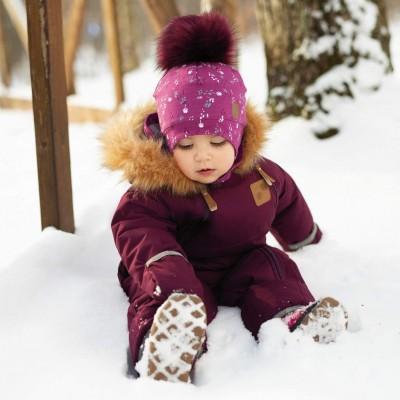 Habit de neige une pièce pour bébé fille Perlimpinpin