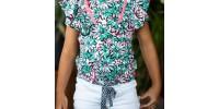 T-shirt motif fleurs B.Nosy