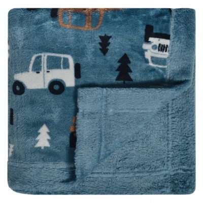 Couverture en peluche motif trucks Perlimpinpin
