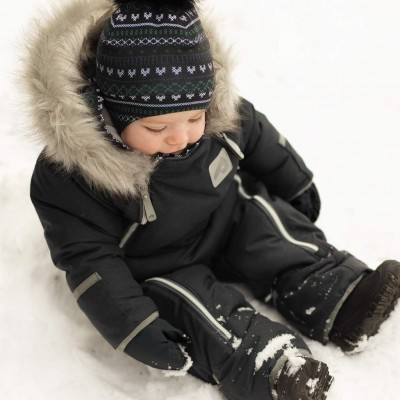 Habit de neige une pièce noir Perlimpinpin