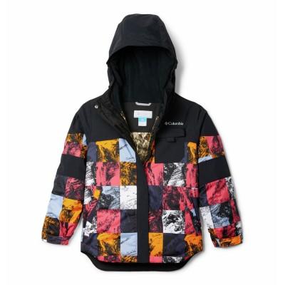Manteau d'hiver noir et géranium Columbia