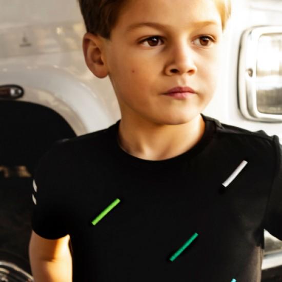 T-shirt noir pour garçon B.Nosy