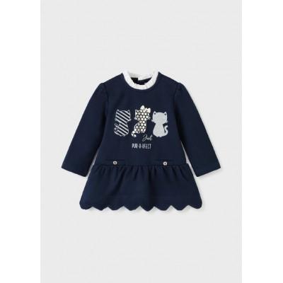 Robe marine pour bébé Mayoral