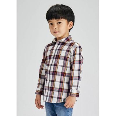 Chemise à carreaux blanche Mayoral