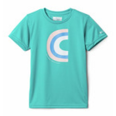 T-shirt turquoise Columbia