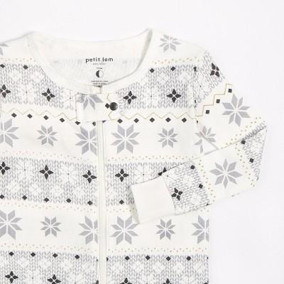 Pyjama ivoire motif flocon Petit Lem