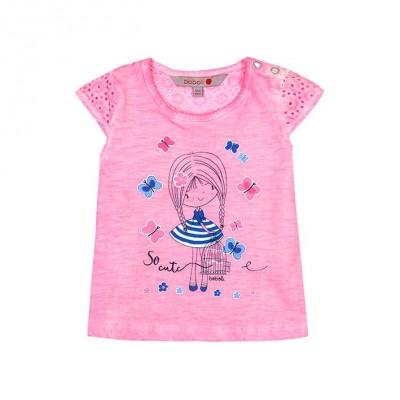 T-shirt rose Boboli