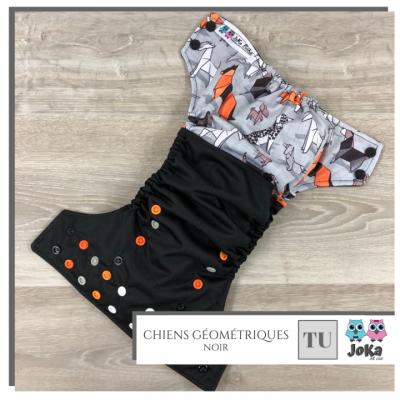 Couche lavable et de piscine à poche Chiens Géométriques Joka 2.0