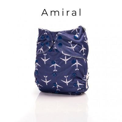 Couche lavable à poche 2.0 Amiral Mme&Co (10-38 lbs)