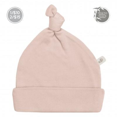 Bonnet nouveau-né  0-3 mois Dusty rose Perlimpinpin