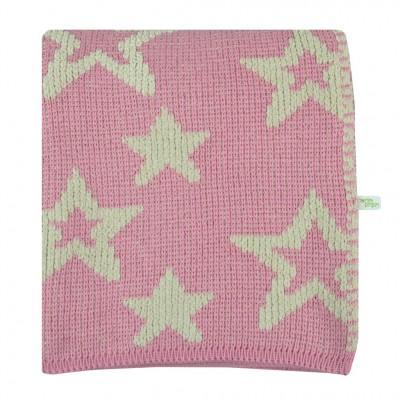 Couverture en rose motif étoile Perlimpinpin
