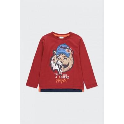 Chandail rouge tigre Boboli