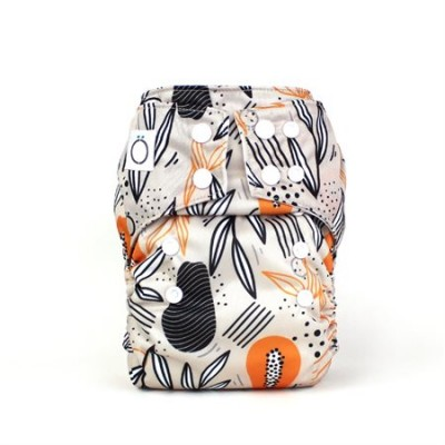 Couche lavable à poche Papaye Omaïki (8-40 lbs)