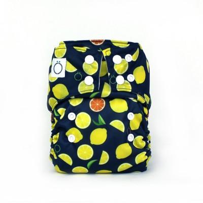Couche lavable à poche Citron Omaïki (8-40 lbs)