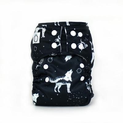 Couche lavable à poche Voie Lactée Omaïki (8-40 lbs)