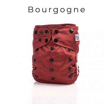 Couche lavable à poche 2.0  Bourgogne Mme&Co (10-35 lbs)