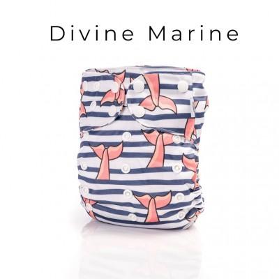 Couche lavable à poche 2.0 Divine Marine Mme&Co (10-35 lbs)