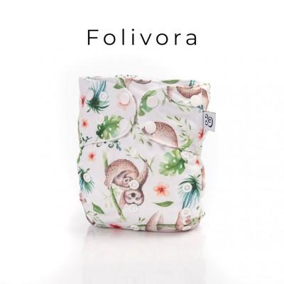 Couche lavable à poche 2.0  Folivora Mme&Co  (10-35 lbs)