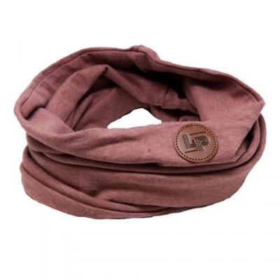 Foulard anneau rose aubergine LP
