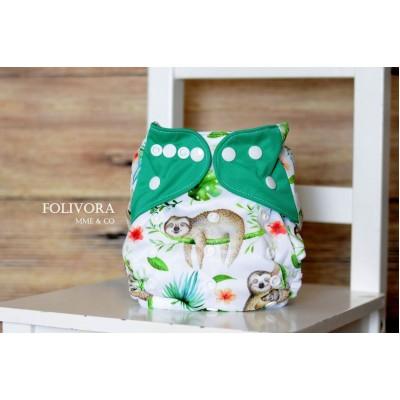 Couche lavable à poche Folivora Mme&Co  (8-35 lbs)