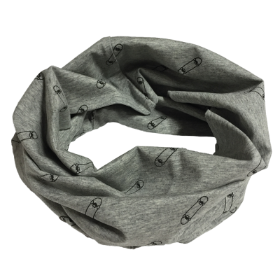 Foulard anneau gris motif LP