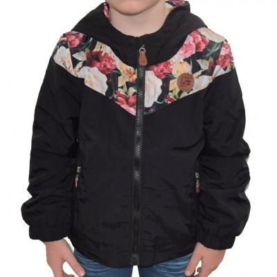 Manteau noir fleur LP