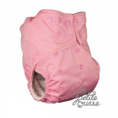 Couche lavable à poche La Petite Ourse Rose bébé (10-35 lbs)