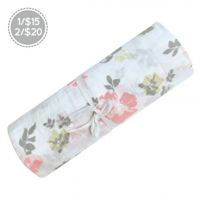 Doudou en mousseline coton motif Fleurs Perlimpinpin