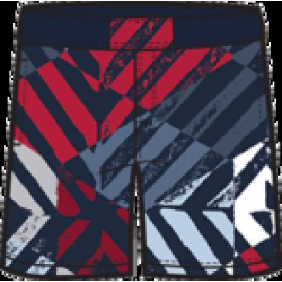 Boardshort rouge et bleu Columbia