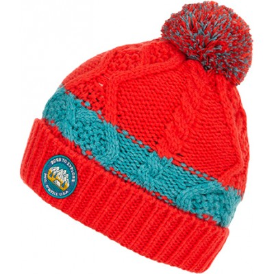 Tuque hiver rouge/verte O'Neill