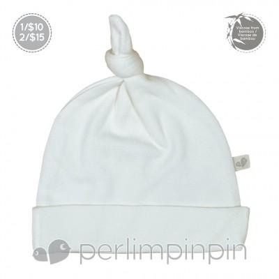 Bonnet nouveau-né 0-3 mois ivoire Perlimpinpin