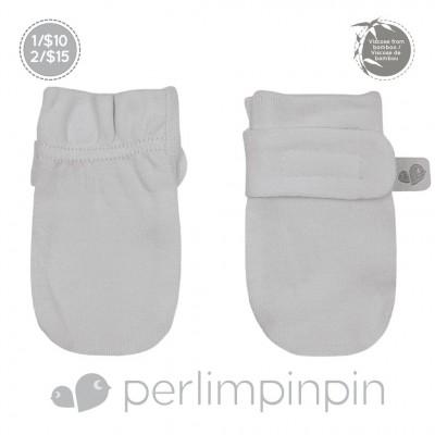 Mitaines anti-égratignures grise pâle Perlimpinpin