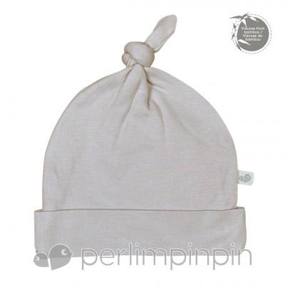 Bonnet nouveau-né gris 0-3 mois Perlimpinpin