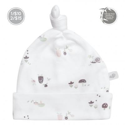 Bonnet nouveau-né 0-3 mois motif champignons Perlimpinpin