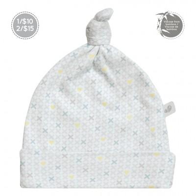 Bonnet nouveau-né 0-3 mois motif coeurs Perlimpinpin