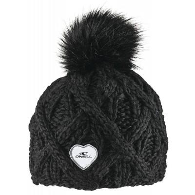 Tuque d'hiver noire avec pompon O'Neill
