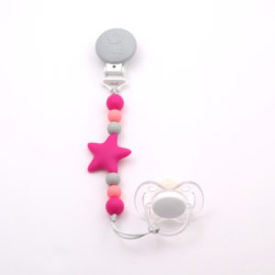 Attache-suce nano fuschia, gris pâle, rose Bulle