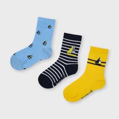 Bas (3) bleu/jaune Mayoral