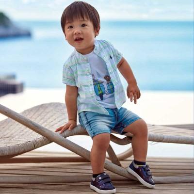 Bermuda jeans bébé softy Mayoral
