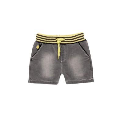 Bermuda en jeans gris bande jaune Boboli