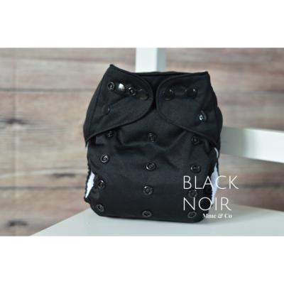 Couche lavable tout en un noir Mme&Co (8-38 lbs)