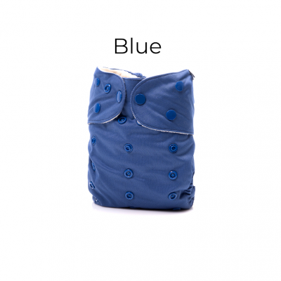 Couche lavable tout en un 2.0 Blue Mme&Co (10-35 lbs)