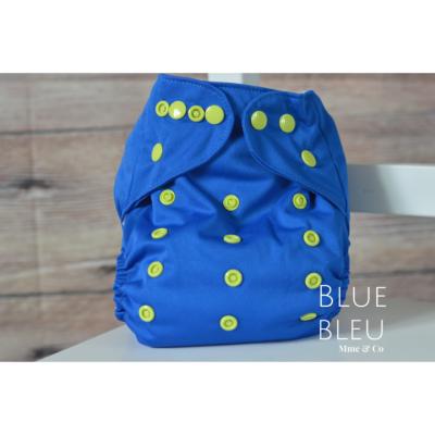 Couche lavable à poche bleue Mme&Co (8-38 lbs)