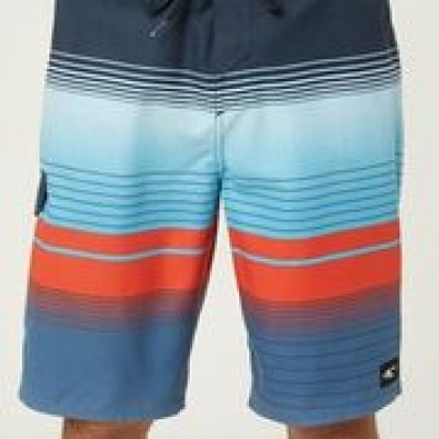 Boardshort rayé bleu et rouge O'Neill
