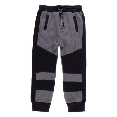 Pantalon molleton noir et gris Boboli