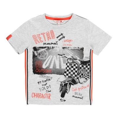 T-shirt gris Boboli