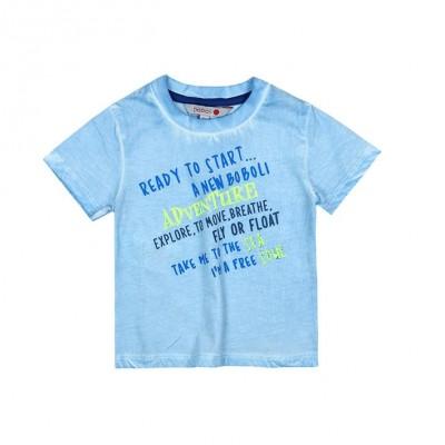 T-shirt bleu pâle Boboli
