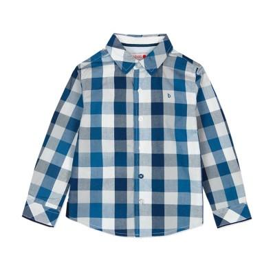 Chemise carreaux bleu Boboli